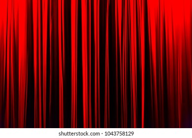 Red striped curtain in theater elegant texture background