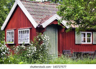 Red summer house in Sweden