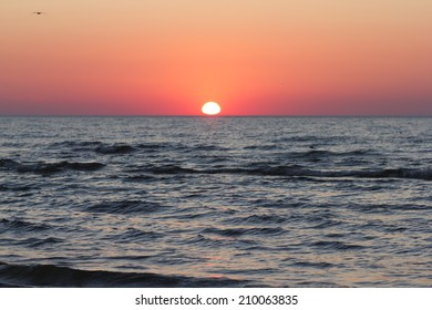 Red Sunset over baltic Sea