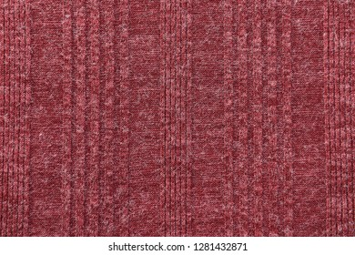 Red sweater fabric in full frame