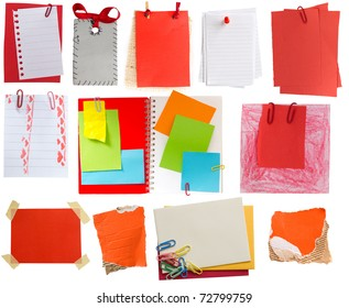 red tags and notes collection
