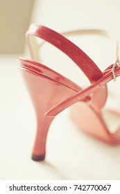 Red tango shoe