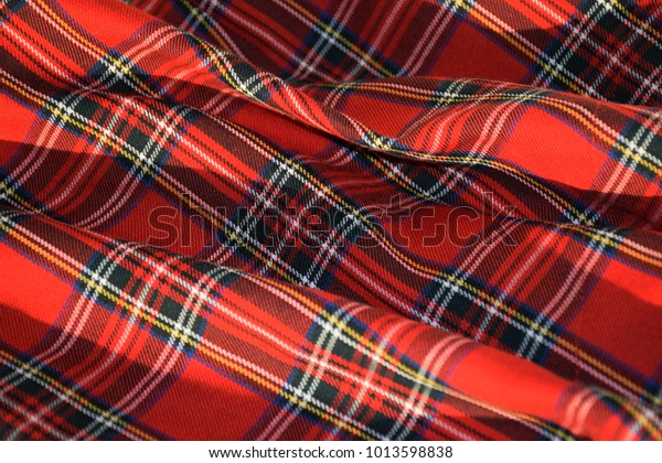 Red Tartan Fabric Most Downloaded Material Image
