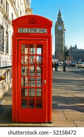 A red telephone booth London