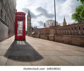 red telephone box at Big Ben