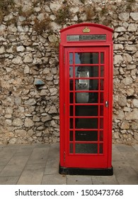 Red telephone box - a telephone kiosk from Gibraltar, British Overseas Territory