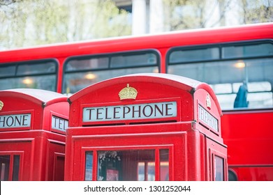 Red Telephone box and pullman in London