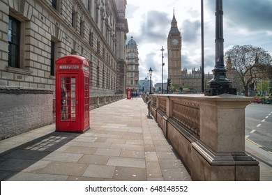 red telephone boxes at Big Ben