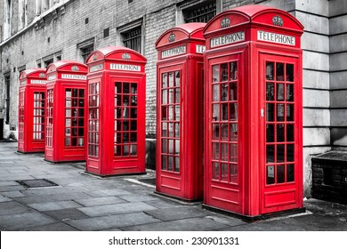 Red Telephone Boxes, Westminster, London, England