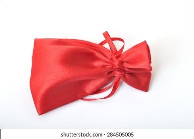 Red textile bag