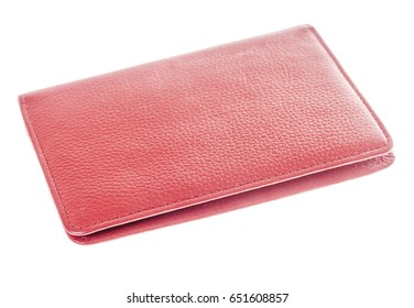 Red textured passport cover over white background