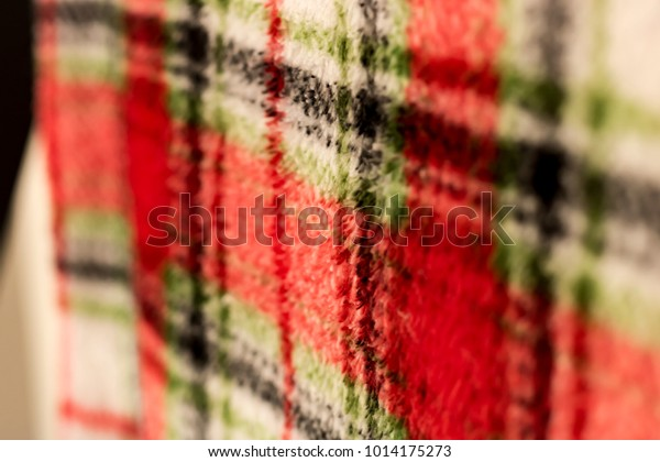 Red Textured Plaid