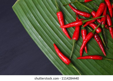 Red Thai chillies.Organic ingredient thai food.