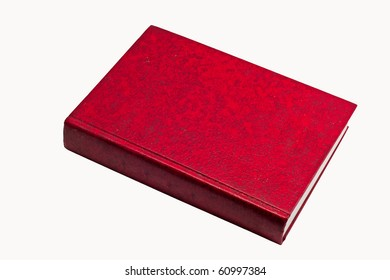 Red thick book, leather skin cover