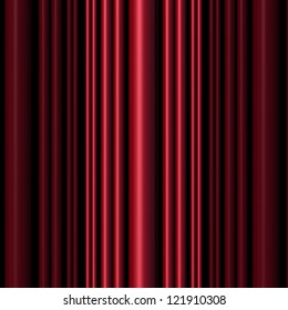 Red three dimensional vertical cylinders in varying sizes with side lighting and shadows