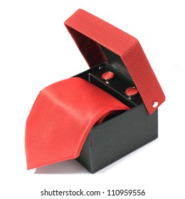 red tie in open box