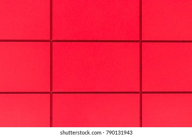 Red tile mosaic background