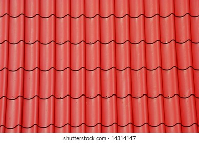 Red tile on the roof as a background