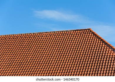 Red tile roof.
