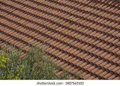 Red tile roof by the Adriatic coast