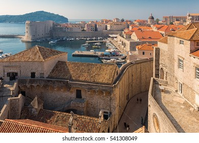 Red tiles roofs in old town of Dubrovnik, Croatia