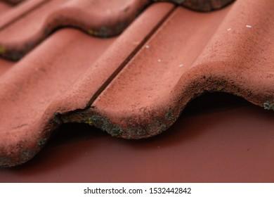 Red tilled roof. Ceramc roof tilles.