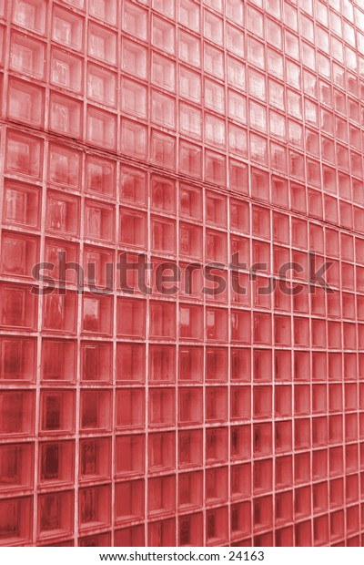 A red tinted clear glass wall texture pattern image.