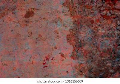 Red tinted concrete grunge background