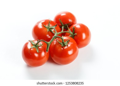 Red Tomato Group isolated on white background