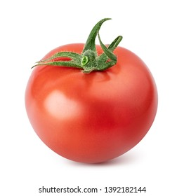 Red tomato isolated on white background. Clipping path
