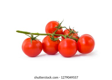 Red tomato on an isolated background.