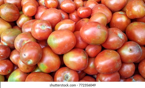 red tomato in traditional market