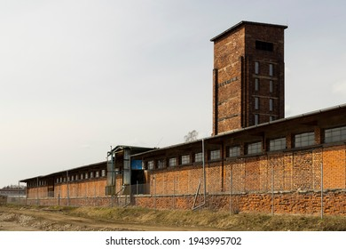 """Red Tower of Death, UNESCO site with inscription in Czech language """"Ruda vez smrti"""" a national monument in Dolni Zdar near Ostrov, Western Bohemia, Czech Republic - Shutterstock ID 1943995702"""