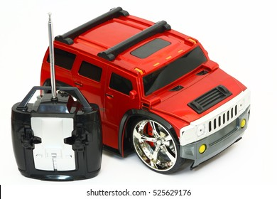 Red toy car remote control