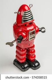 Red Toy  Clockwork Robot