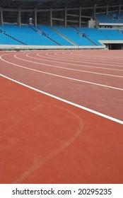 red track in stadium