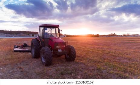 Red Tractor Orlando Sunset