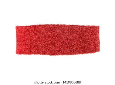 Red training headband isolated on a white background