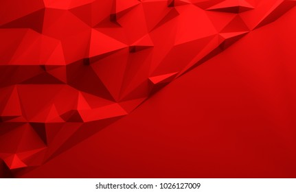 Red triangular textured lowpoly background