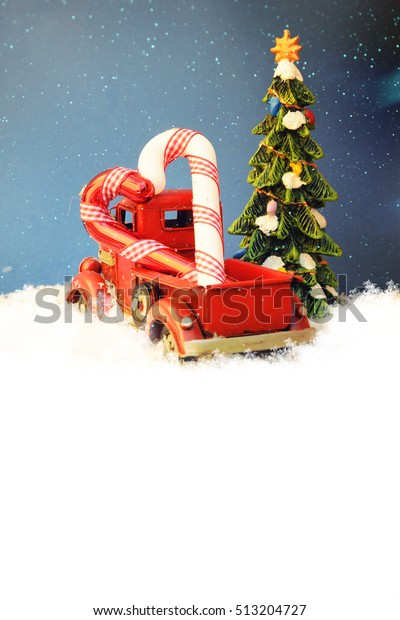 Red Truck Christmas Decoration Family Holiday Stock Photo Edit Now 513204727