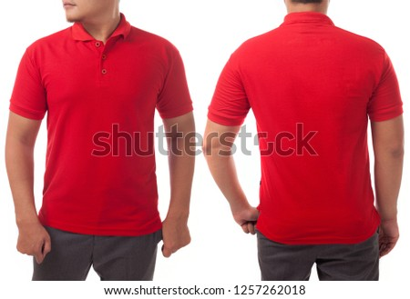 885e6012 Red Tshirt Mock Up Front Back Stock Photo (Edit Now) 1257262018 ...