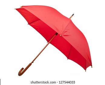red umbrella isolated on white background
