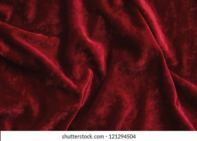 Red velvet as abstract background.