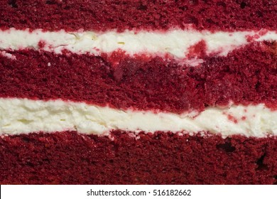 red velvet cake face cut to texture and cream - can use to display or montage on product