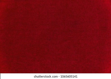 Red velvet texture background. Red velvet fabric
