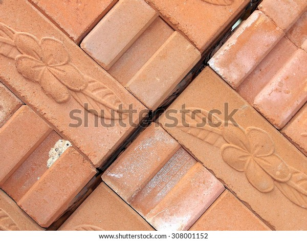 red vintage brick wall background or texture