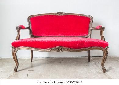 Red Vintage sofa