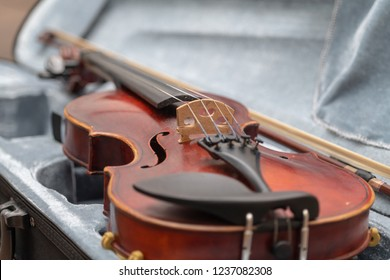 Red Violin in Case after Performance