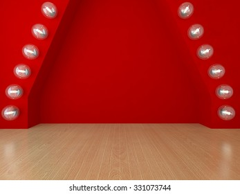 Red wall. 3d illustration
