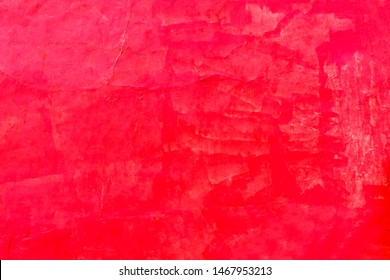 Red Wall Abstract Background Abstract Mexican Building Oaxaca Mexico